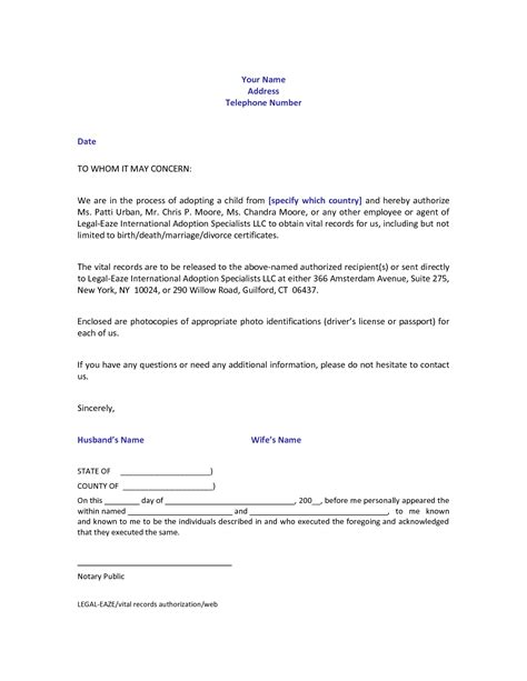 authorization letter for certification best photos of notarized authorization letter format