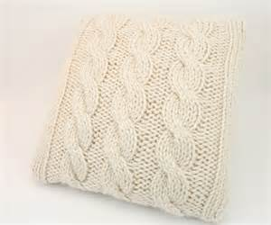 Design Ideas For Cable Knit Throw Pillow Pillow Cover Knitting Pattern Cabled Pillow Cover