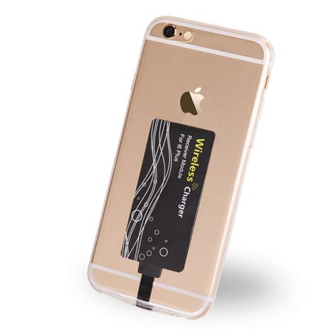 Qi Wireless Charging Lightning Receiver Iphone 55sse5c6 Charger qi wireless receiver card for apple iphone 6s 6s plus