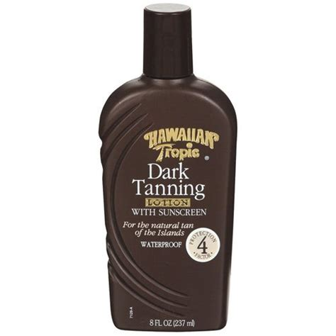 best tanning bed lotion for darkest tan possible hawaiian tropic dark tanning lotion 8 fl oz skin care