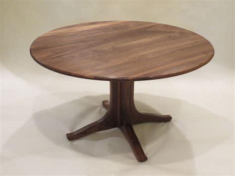 round table walnut creek custom walnut pedestal dining table by lost creek
