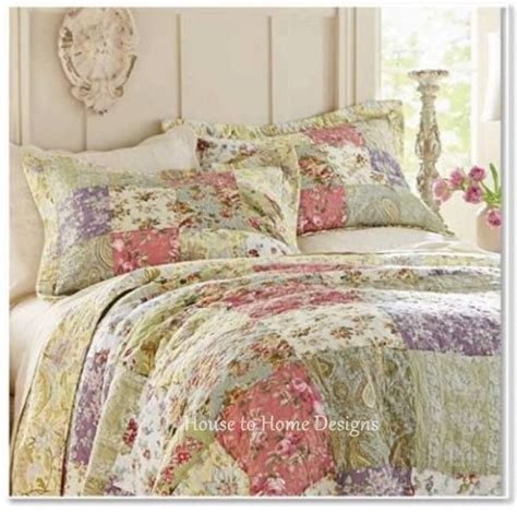quilts coverlets bedding home blooming garden full queen or king quilt set cotton