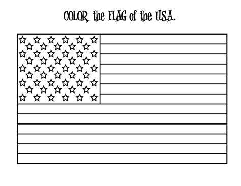 A Coloring Page Of The American Flag by Flag Coloring Pages Free Large Images