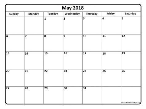 Calendar November 2017 To May 2018 May 2018 Calendar May 2018 Calendar Printable