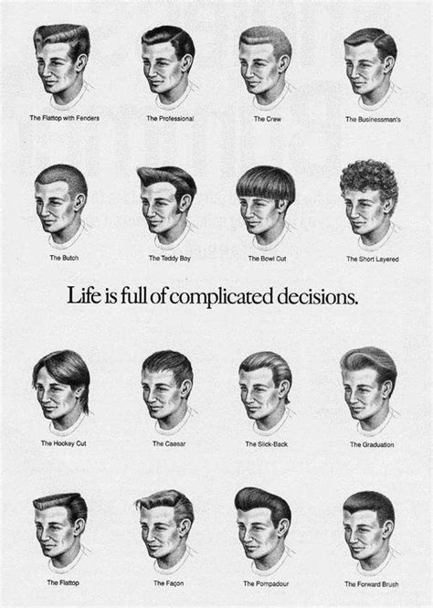 haircut for names names for mens hair styles