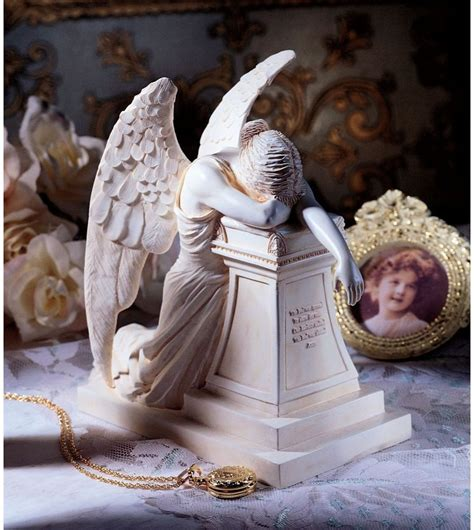 Weeping Garden Statue by Lost Loved One Memorial Grieving Homage Kneeling