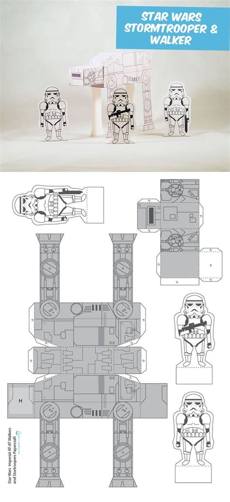Make Your Own Papercraft - create your own stormtroopers and walkers diy paper