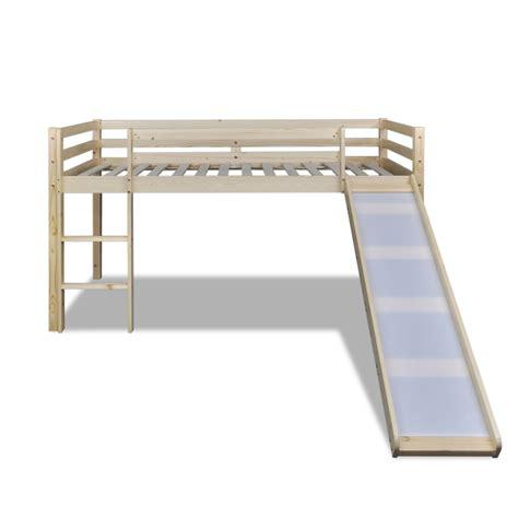 bed ladder vidaxl co uk children loft bed natural colour with slide