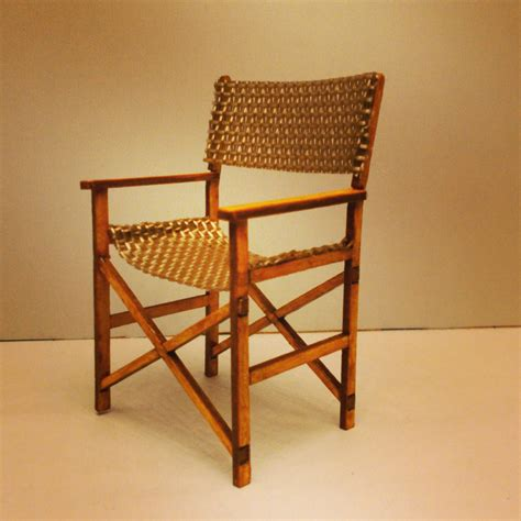 miniature mid century directors chair modern furniture 1 12