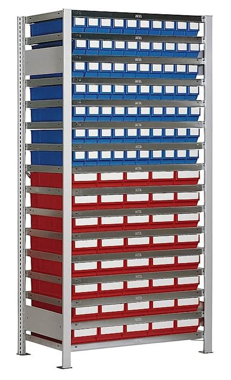Plastic Storage Containers Dividers - boltless shelving with 110 rack boxes genteso