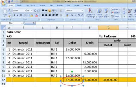 format buku besar akuntansi excel pembuatan buku besar akuntansi dengan menggunakan ms