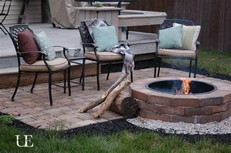 Diy Patio With Pavers Diy Paver Patio And Firepit