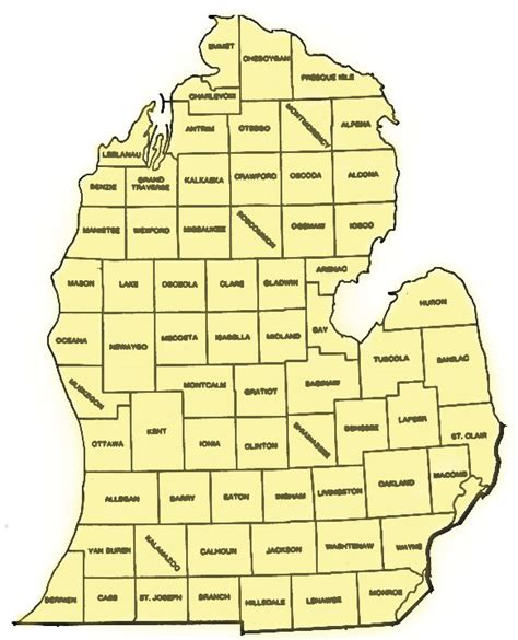 Search Michigan Printable Map Of Lower Michigan Search Engine At Search