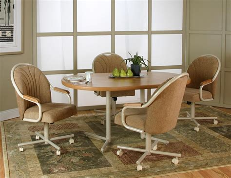 Dining Table And Chairs With Casters Dining Room Chairs With Casters Home Design Ideas
