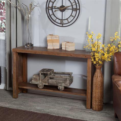 Rustic Hallway Table Belham Living Brinfield Rustic Console Table Console Tables At Hayneedle