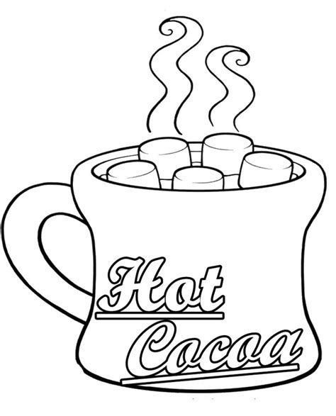 how to color white chocolate cocoa mug coloring sheet