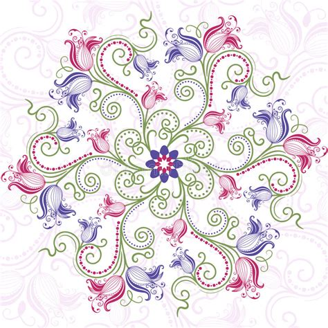 colorful flower tattoos designs royalty free images no colorful floral round frame royalty free stock image