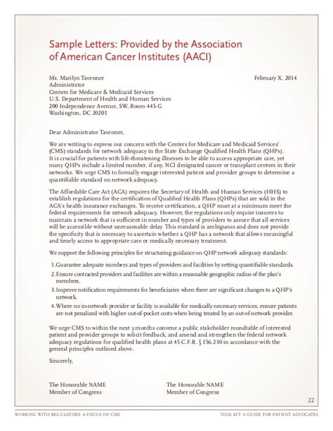 Cancer Patient Goodbye Letter Working With Regulators A Focus On Cms Took Kit A Guide For Patie