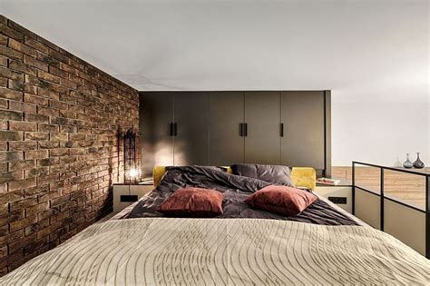 mezzanine level bedroom adds extra space  small kiev apartment