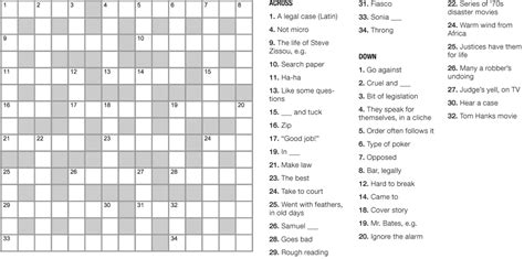 a puzzle crossword feature with a supreme court