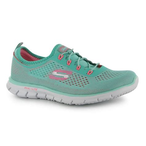 skechers knit shoes skechers womens glider knit trainers laced dual