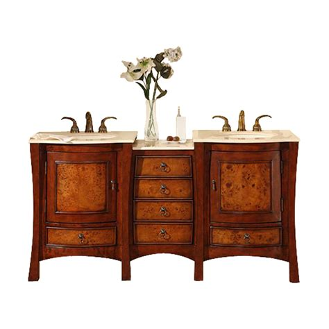 67 Bathroom Vanity Shop Silkroad Exclusive Cherry Undermount Sink Bathroom Vanity With Top Common