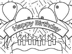 coloring pages of happy birthday signs happy birthday banners birthday banners and happy