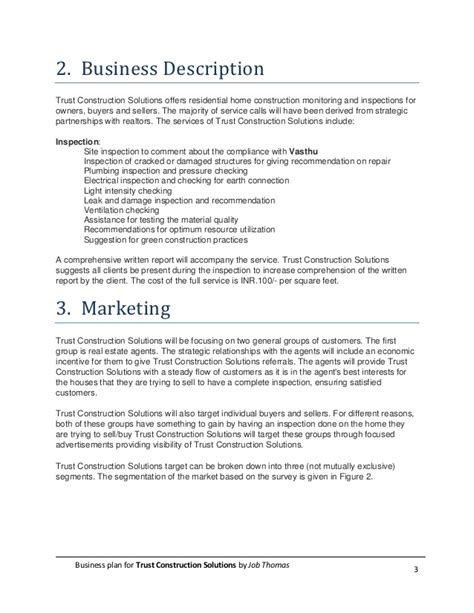 Business Plan For Construction Solutions Company Business Plan Construction Company Template