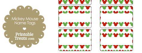 printable christmas tags mickey mouse mickey mouse christmas name tags printable treats com