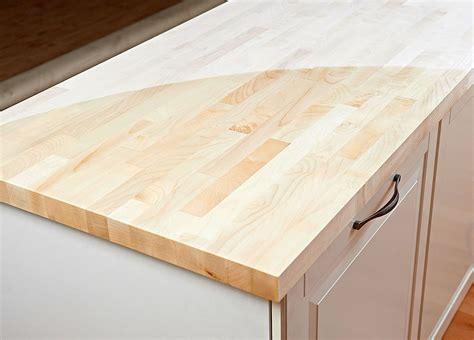 Arbeitsplatte / Küchenarbeitsplatte Massivholz Ahorn kgz