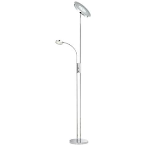 torchiere floor l led bulbs dexter led torchiere floor l with reading light