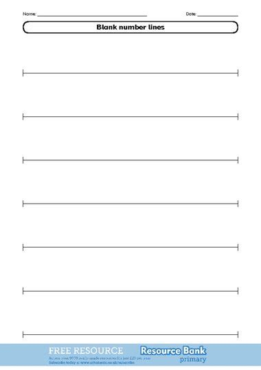 number line template blank number line template pictures to pin on