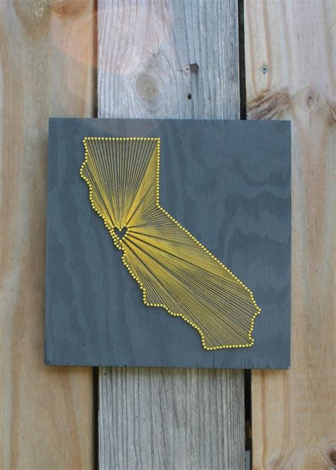Wood Nail And String - california reclaimed wood nail and string
