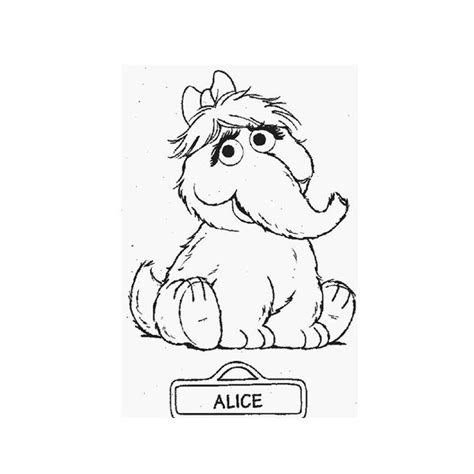 Snuffleupagus Coloring Pages