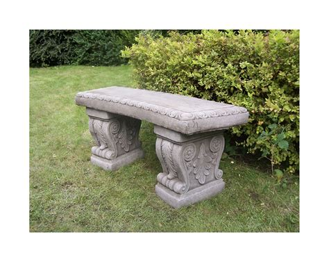 cast stone benches garden large cast stone garden bench bespoke garden ornament concrete onefold uk ebay