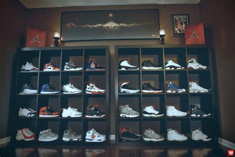 sneaker room ideas ward 1 air collection shoe room air deadstock wall sneakerhead organization