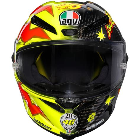 Helm Agv Replika Valentino agv pista gp r valentino 20 years limited edition replica helmet