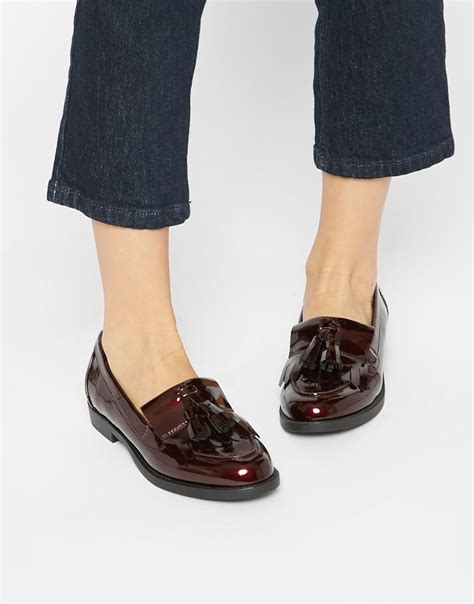 tassel loafers style image 1 of new look patent tassel loafer style