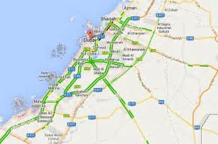 traffic map uae road traffic live on map maps uae live