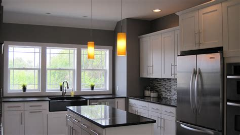 white cabinets gray walls i married a tree hugger modern craftsman kitchen
