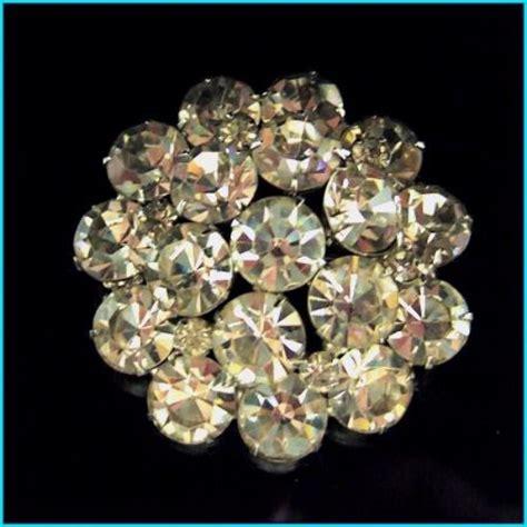 eisenberg jewelry vintage crystal pin 1940s stunning big