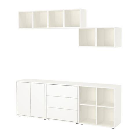 Ikea Kallax Sisipan Rak Abu Abu Muda eket kombinasi kabinet dengan kaki putih ikea