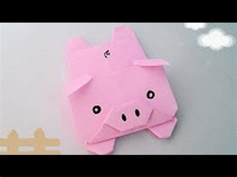How To Make A Origami Pig - origami tutorial how to fold origami pig