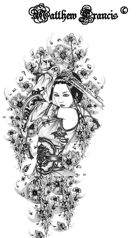 geisha tattoo stencil geisha tattoo stencil by matthew cawthrone on deviantart