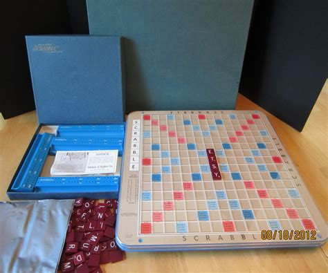 turntable scrabble board vintage scrabble board deluxe turntable by wnyvintage