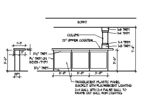 Top Bar Section by Home Bar Plans Design Blueprints Drawings Back Bar Counter