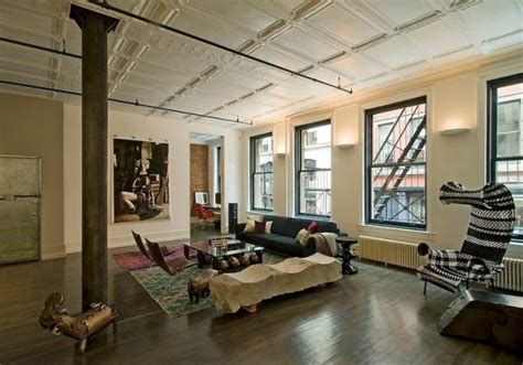livingroom soho modern soho loft with industrial touches and bold colors