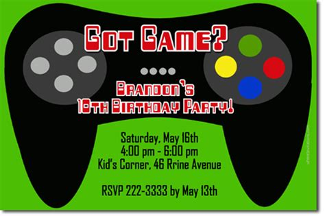 free printable birthday invitations video games video game birthday invitations download jpg now