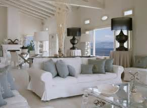 Living room and white furniture mediterranean style interior design