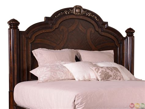 California King Bed Wood Valencia Traditional Carved Wood Panel California King Bed
